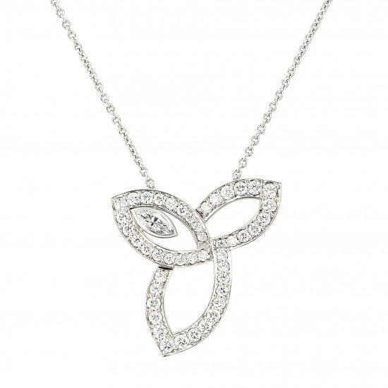 harrywinston necklace_pendant HARRY WINSTON Necklace / pendant Lily cluster