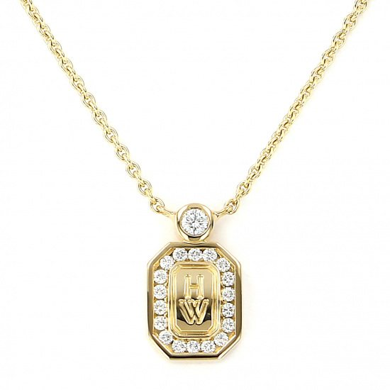 harrywinston necklace_pendant HARRY WINSTON Necklace / pendant HW logo Yellow Gold diamond