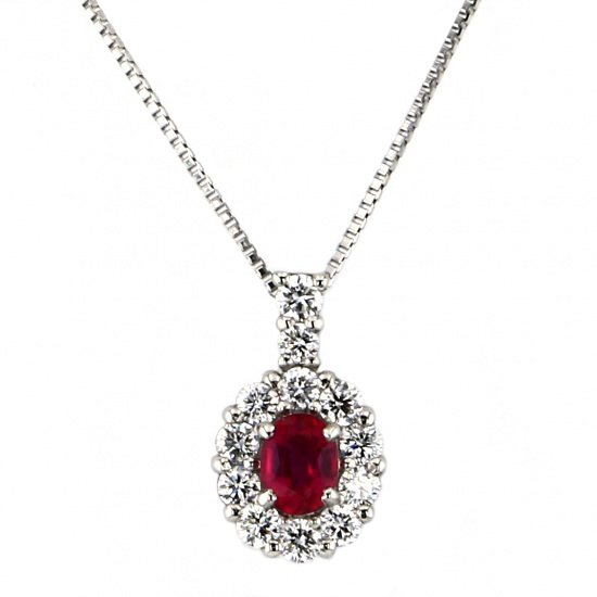 Yukizaki Select necklace_pendant Yukizaki Select Jewelry Necklace / pendant platinum Ruby Diamond necklace No heat -