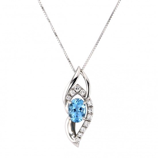 Yukizaki Select necklace_pendant Yukizaki Select Jewelry Necklace / pendant platinum Aquamarine Diamond necklace -