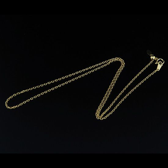 chain necklace chain necklace Yellow Gold 0.45 red beans / 45cm nc-lyg45