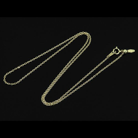 chain necklace chain necklace Yellow Gold Red bean 0.38 / 50cm nc-myg