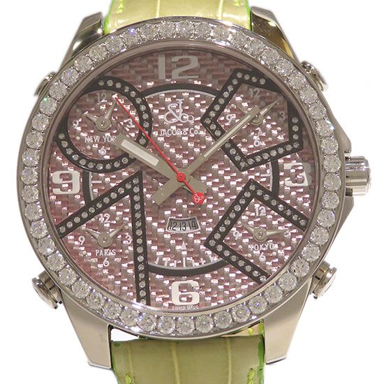 jacobco fivetimezone JACOB&CO Five Time Zone Bezel diamond jc-99dad