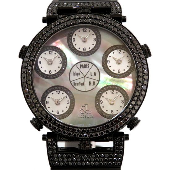 jacobco sixtimezone JACOB&CO Six time zone Case black diamond -