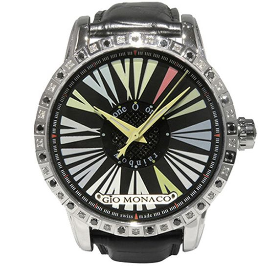 geomach rainbow Geo Monaco Rainbow Bezel Diamond Black Diamond 500 books in the world 911a