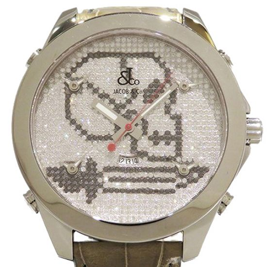 jacobco fivetimezone JACOB&CO Five Time Zone Skull jc-skull3