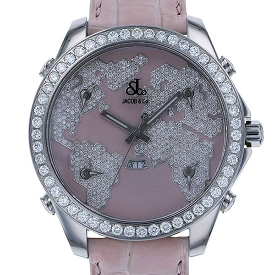 jacobco fivetimezone JACOB&CO Five Time Zone Bezel diamond jc-47spd