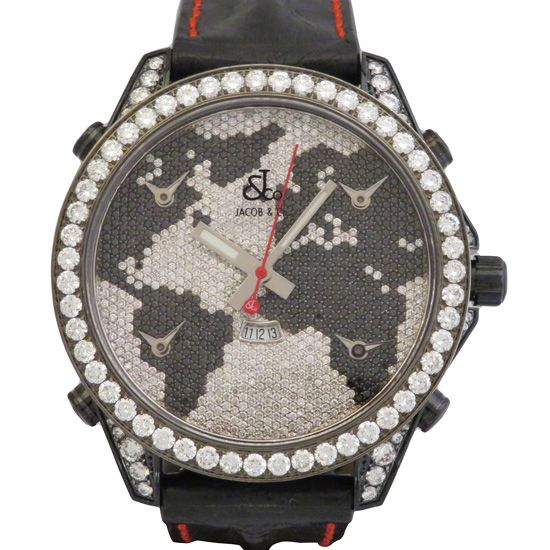 jacobco fivetimezone JACOB&CO Five Time Zone Case diamond jc-47bkbdc