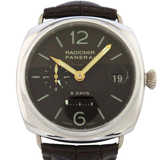 panerai radiomir PANERAI Radio meal 8 Days GMT platinum 50 books limited to the world pam00201