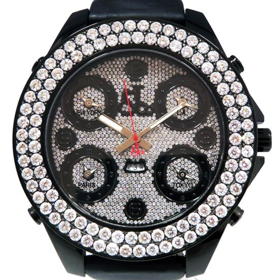 jacobco fivetimezone JACOB&CO Five Time Zone jumbo Bezel diamond jc-30jbd