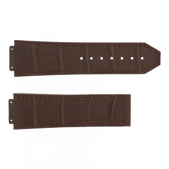 strap hublot Genuine strap HUBLOT For 44mm Brown alligator rubber -