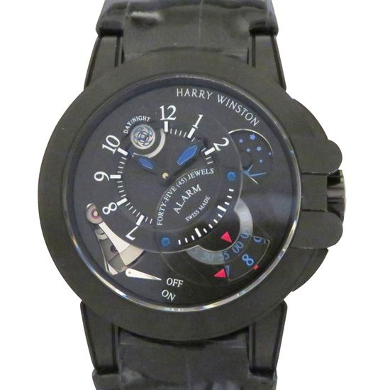 harrywinston ocean HARRY WINSTON Ocean Project Z6 Black edition World Limited 300 ocemal44zz004