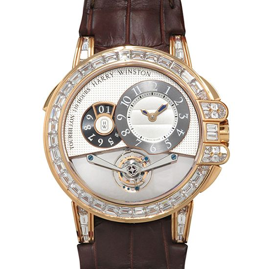 harrywinston ocean HARRY WINSTON Ocean Tourbillon Big date Limited to 5 books ocemtd45rr003