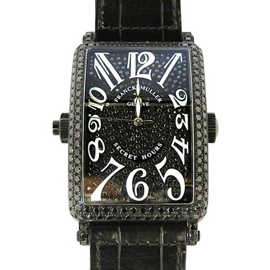 franckmuller Longisland FRANCK MULLER Long Island Secret hours Bezel black diamond 1300se h i nr d cd