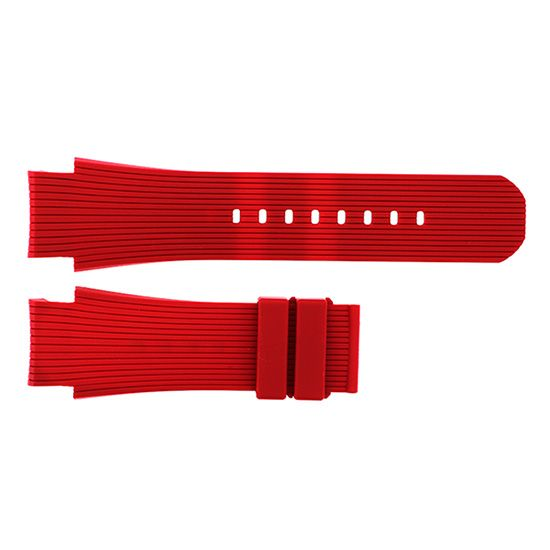 strap clerk Genuine strap Claire Red rubber -