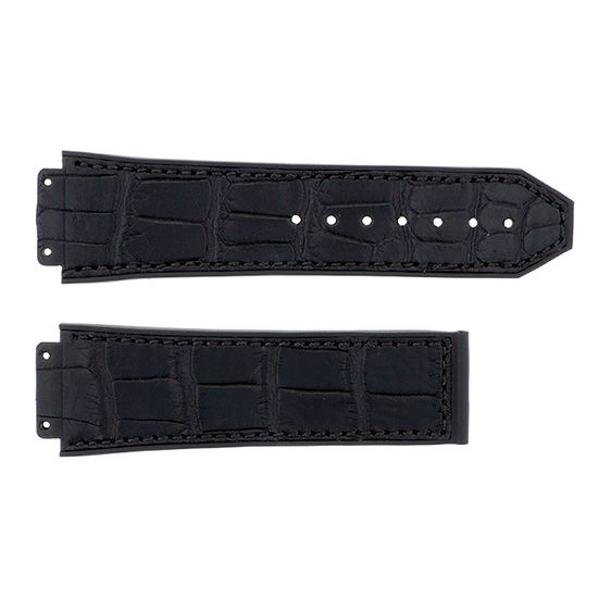 strap hublot Genuine strap HUBLOT Classic fusion Black gummy alligator rubber -
