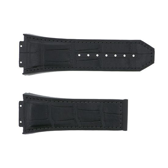 strap hublot Genuine strap HUBLOT Black croco / rubber -