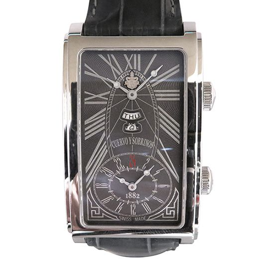 crow and nephews celebrity Cuervo y Sobrinos Prominente Dual time Day-date 1124-1rgg