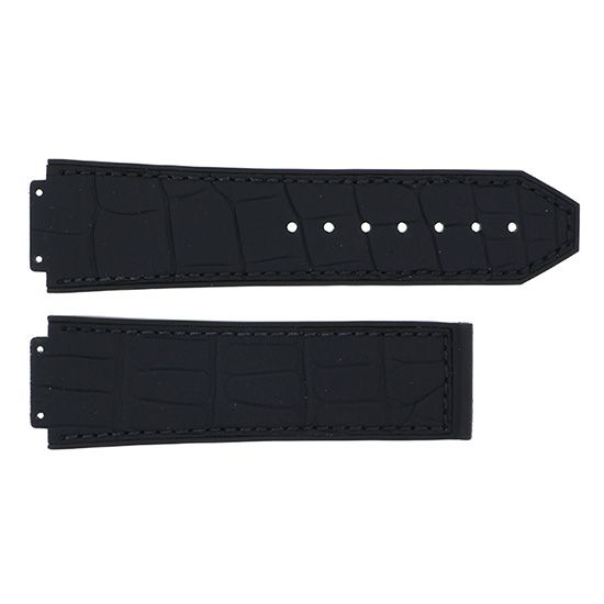 strap hublot Genuine strap HUBLOT For 44mm Black gummy alligator -