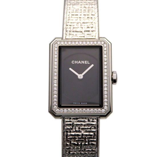 chanel boyfriend CHANEL boy friend Tweed S Bezel diamond h4877