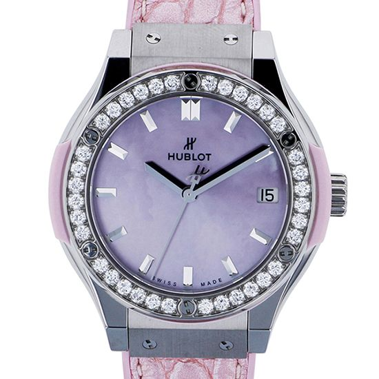 hublot classicfusion HUBLOT Classic fusion Pearl pink diamond Japan only 581.np.6210.lr.1204