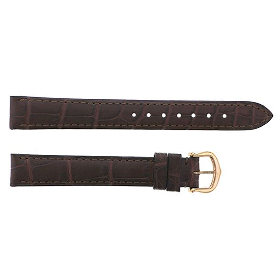 strap cartier Genuine strap Cartier For mini venevar Brown croco -