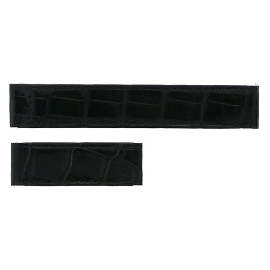 strap cartier Genuine strap Cartier mast Do For Cartier Black croco -