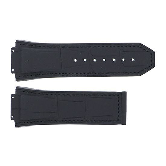 strap hublot Genuine strap HUBLOT For King Power Black gummy alligator -