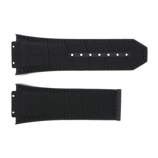 strap hublot Genuine strap HUBLOT Spirit of Big Bang For 601 Black alligator rubber -