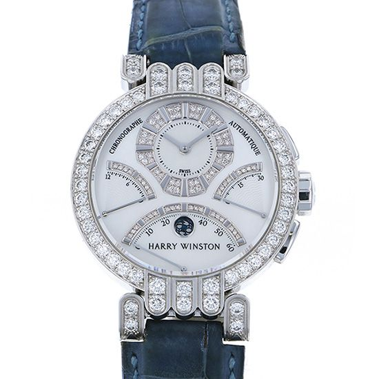 harrywinston premiere HARRY WINSTON Premiere Ex Center Bird retro Chronograph Bezel diamond 200/mcra39w
