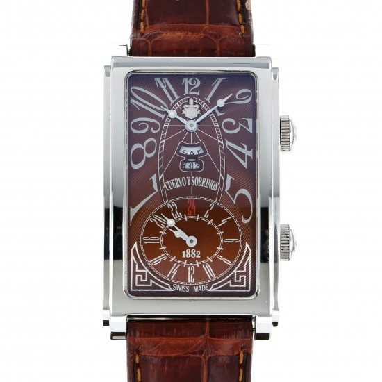 crow and nephews celebrity Cuervo y Sobrinos Prominente Dual time Day-date 1124-1atg