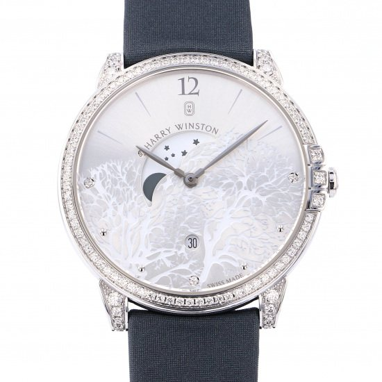 harrywinston midnight HARRY WINSTON Midnight Moon phase midqmp39ww001