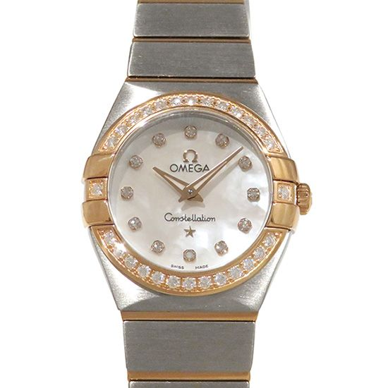 omega constellation OMEGA Constellation Brushed quartz Bezel diamond 123.25.24.60.55.001