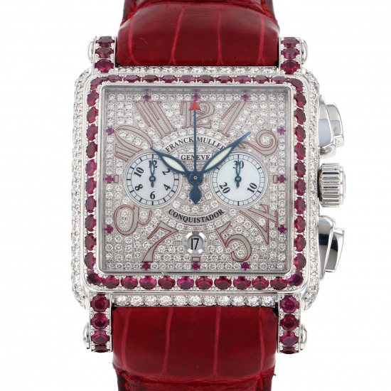 franckmuller conqueror FRANCK MULLER Conquistador Chronograph Red zone World Limited 25 10000cc d cd red zone
