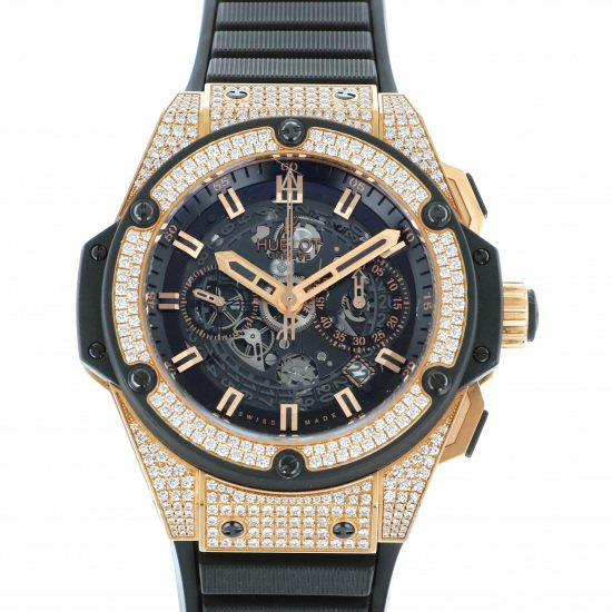 hublot kingpower HUBLOT King power Unico King Gold Pave 701.ox.0180.rx.1704