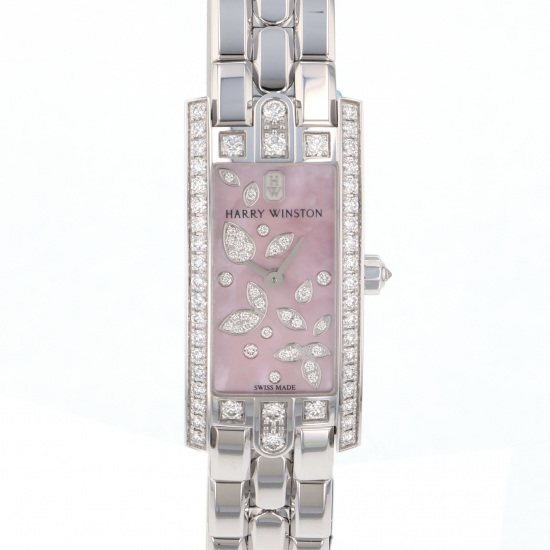 harrywinston avenue HARRY WINSTON Avenue C mini Lily cluster pink avcqhm16ww056