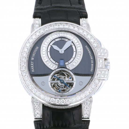 harrywinston ocean HARRY WINSTON Ocean Tourbillon 15 books limited to the world 400/mat44wl.d00