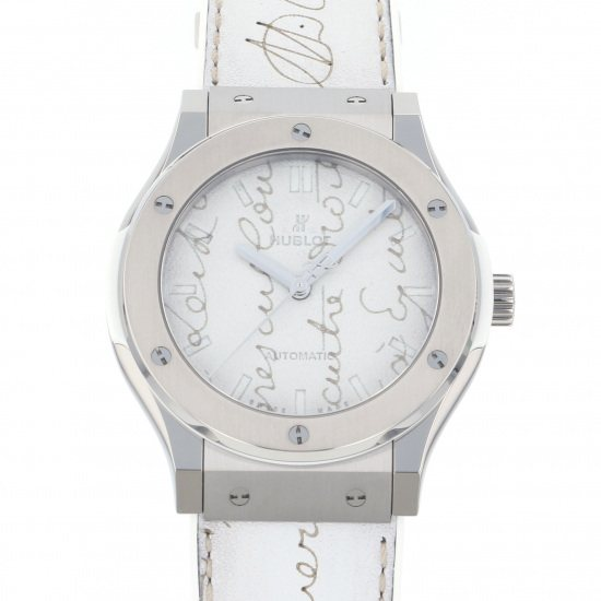 hublot classicfusion HUBLOT Classic fusion Berluti Skrit Flat Bianco Limited to 100 copies in Japan 511.ne.050w.vr.jber19