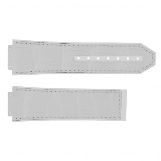 strap hublot Genuine strap HUBLOT For 44mm White gummy alligator rubber -