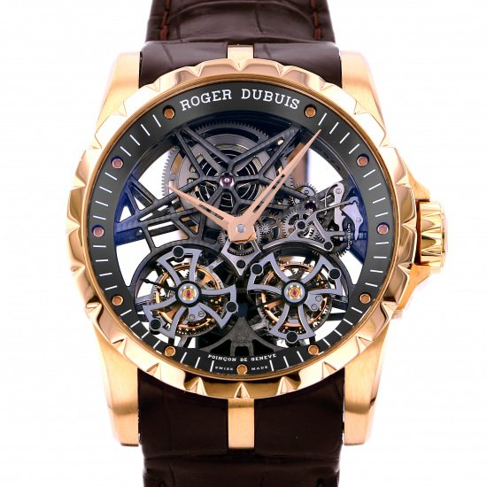rogerdubuis excalibur ROGER DUBUIS Excalibur 45 Double flying tourbillon skeleton rddbex0395