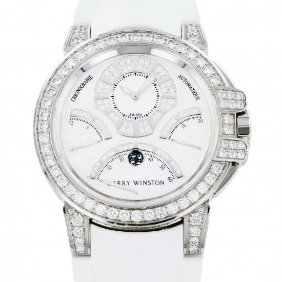 harrywinston ocean HARRY WINSTON Ocean Bird retro Chronograph Case diamond oceact44ww002