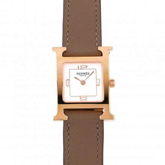 hermes other Hermes H watch White 369 SS De Bourtour w049198ww00
