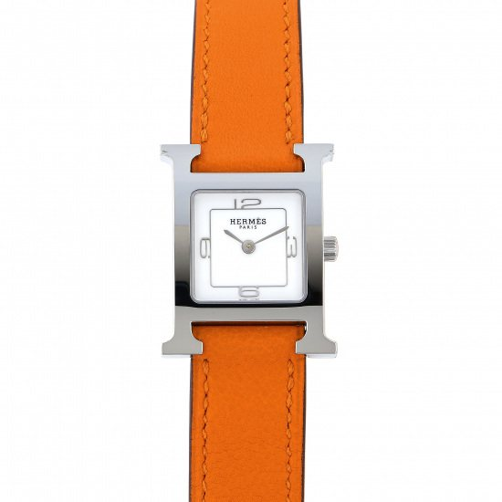 hermes other Hermes H watch White 369 SS De Bourtour w049189ww00