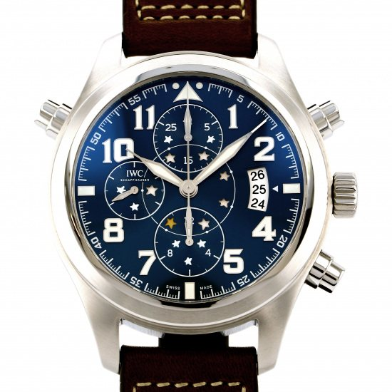 iwc pilotwatch IWC Pilot watch Double chronograph Petit Prince Limited to 1000 copies in the world iw371807