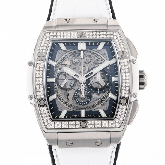 hublot spiritofbigbang HUBLOT Spirit of Big Bang Titanium white diamond Japan only 601.ne.0172.lr.1104.jpn19