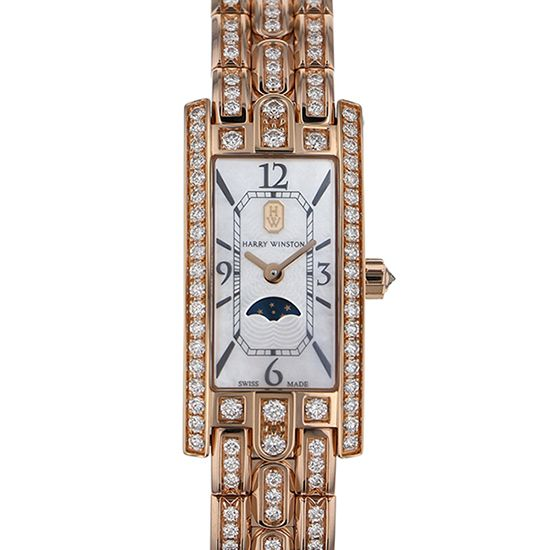 harrywinston avenue HARRY WINSTON Avenue C mini Moon phase avcqmp16rr003