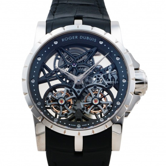 rogerdubuis excalibur ROGER DUBUIS Excalibur Double flying tourbillon skeleton 88 limited editions rddbex0281