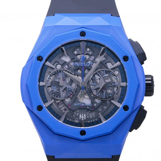 hublot other HUBLOT Aerofusion Chronograph Aurinsky Blue ceramic World Limited 200 525.ex.0179.rx.orl18