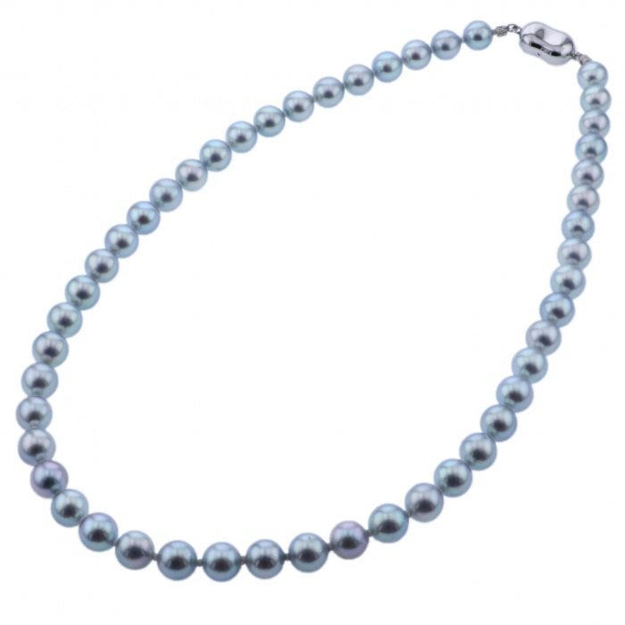 Pearl PEARL necklace Cobalt pearl necklace New product jewelry