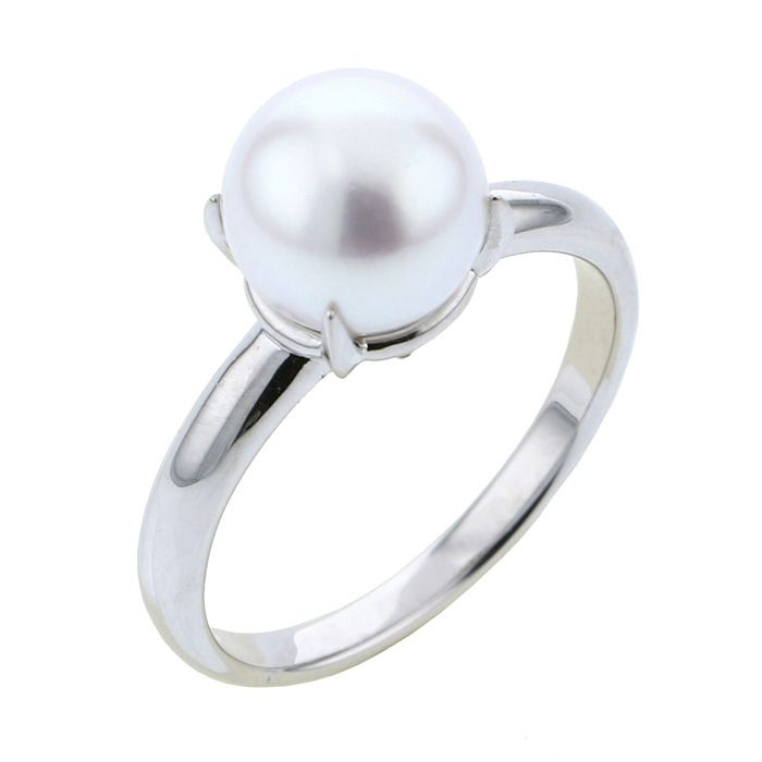 Pearl PEARL ring platinum Pearl ring New product jewelry